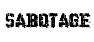 Sabotage typografische zegel stock illustratie