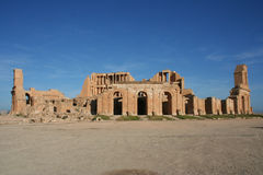 sabratha της Λιβύης αμφιθεάτρων Στοκ φωτογραφίες με δικαίωμα ελεύθερης χρήσης