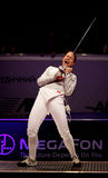 Sabre fencer Sofya Velikaya of Russia Royalty Free Stock Image