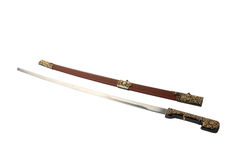Sabre with leather scabbard Royalty Free Stock Image