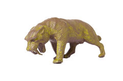 Sabre Toothed Tiger Toy Stock Images
