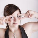 Sabrina con è mano Fotografie Stock