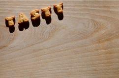 sabroso Letras comestibles Foto de archivo libre de regalías