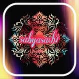 Sabyasachi brand name logo or card design vector illustration