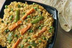 Sabzi dal é uma combinação de lentilha e de especiarias Imagem de Stock Royalty Free