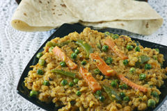 Sabzi dal is a combination of lentil and spices Royalty Free Stock Images