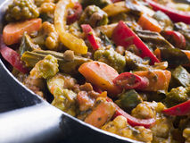 Sabzi Salan - curry di verdure Immagini Stock