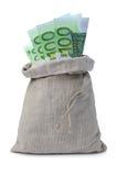 sac à argent Image libre de droits