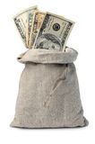 sac à argent Image stock