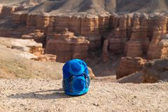 Sac à dos au-dessus de Sharyn Canyon Photos stock