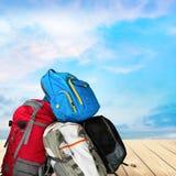 Sac à dos de voyage Image libre de droits