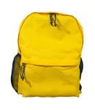 Sac à dos jaune, sac d'école image libre de droits