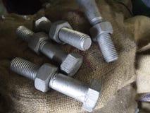 Sac à industries sidérurgiques de vis d'écrou de boulon photos stock