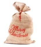 Sac à Joyeux Noël complètement de cadeaux photographie stock