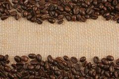 sac à jute de café d'haricots Photographie stock libre de droits