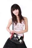 sac à main asiatique de fille Image stock