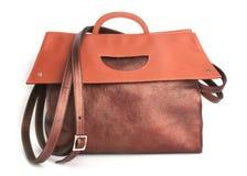 Sac à main en cuir de luxe de Brown Image libre de droits