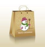 Sac à provisions de Noël Photos libres de droits