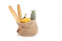 Sac à provisions de nourriture Image libre de droits