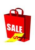 Sac à provisions de vente d'escompte Images libres de droits