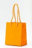 Sac à provisions orange. Photos libres de droits