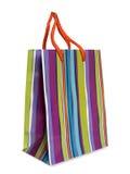Sac à provisions rayé coloré Photo libre de droits
