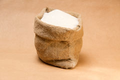Sac à sucre sur le papier superpuissant Photos stock