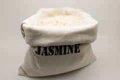 Sac à toile de jute de riz Photos stock