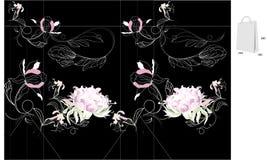 Sac avec découpé avec des matrices Image libre de droits