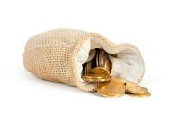 sac avec de l'argent image libre de droits