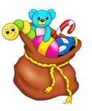 Sac avec des jouets illustration libre de droits