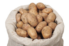 Sac avec des pommes de terre Image stock