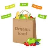 Sac avec l'aliment biologique illustration de vecteur