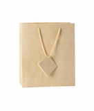 Sac beige de cadeau Photo stock