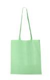 Sac blanc de textile - vert photos stock