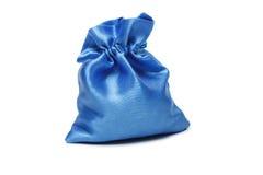 Sac bleu de Noël avec le présent Images stock