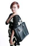 Sac d'épaule chinois de Kua de fille Image stock