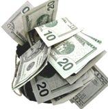 Sac d'argent Photo stock
