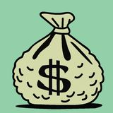 Sac d'argent Image stock