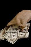 Sac d'argent. Image stock