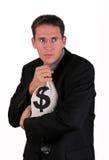 Sac d'argent Photo libre de droits