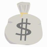 Sac d'argent. Photo libre de droits