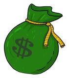 Sac d'argent avec l'illustration de signe du dollar Photographie stock libre de droits