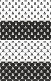Sac d'argent avec Yen Symbol Seamless Pattern Set Image stock