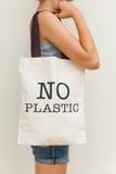 Sac d'eco de lin textile Image stock