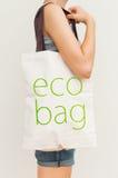 Sac d'eco de lin textile Images stock