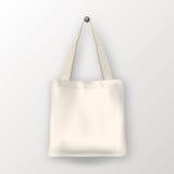 Sac d'emballage vide blanc de textile de vecteur réaliste Photo stock