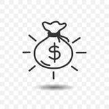 sac d'icône d'argent Images stock