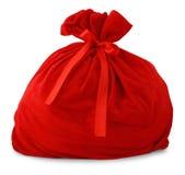 Sac de cadeau de Santa Image libre de droits