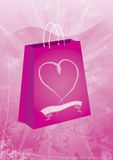 Sac de cadeau de Valentines Photographie stock